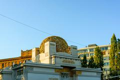 VIENNA, AUSTRIA-April 20 : Vienna Secession Building was formed in 1897 by a  Stock Photos