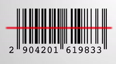 barcode scanning process - stock footage