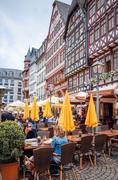 FRANKFURT, HESSE-February 12 : Old Town of Frankfurt am Main.Frankfurt is the - stock photo