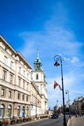 Warsaw, Poland - August 1 : Tourists on foot Street in Warsaw, Poland. is the - stock photo