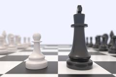 Two chess pieces - stock illustration