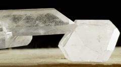 Quartz crystal points - stock footage