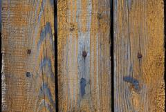 Vintage wood background with peeling paint - stock photo