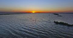 Sunset on the lagoon Stock Footage