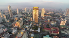 High-rise buildings in Manilas Stock Footage