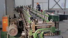 Rollers on the rolling machine spinning Stock Footage