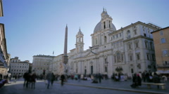 Italy Rome Piazza Navona time lapse Stock Footage