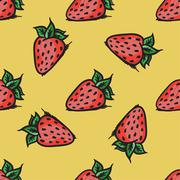 Vector strawberry seamless pattern. Modern texture. Repeating endless abstrac - stock illustration