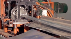 Metal cutting machine close-up  Stock Footage