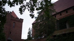 Castle of the Teutonic Order in Malbork, Poland Stock Footage