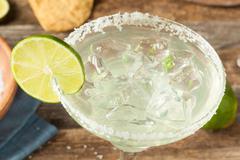 Refreshing Homemade Classic Margarita - stock photo