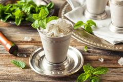 Cold Refreshing Classic Mint Julep - stock photo