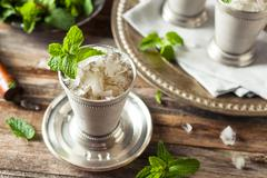 Cold Refreshing Classic Mint Julep Stock Photos