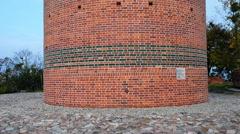 Castle Hill and Klimek tower in Grudziadz, Poland Stock Footage