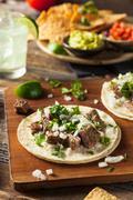 Homemade Carne Asada Street Tacos Stock Photos