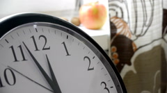 Running Second Hand Of A Clock In The Kitchen Timelapse - stock footage