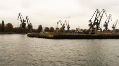 Gdansk Shipyard in city of Gdansk, Poland Stock Footage