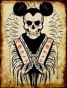 Tee graphics design skull Stock Illustration