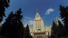 Main University of Moscow Stock Footage