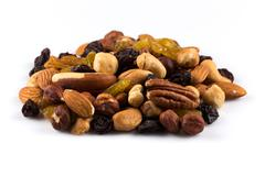 Mix nuts and dry fruits - stock photo