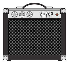 Electric Guitar Amplifier Stock Illustration