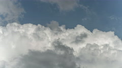 The flow of beautiful rain cloud. Time lapse Stock Footage