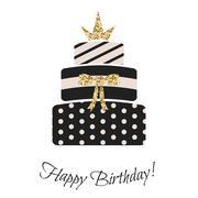 Stock Illustration of Glam birthday cake for girls