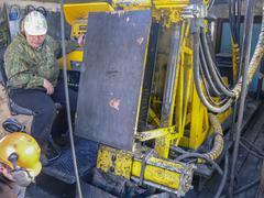 Intelligence Drilling wells - stock photo