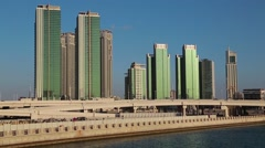 Abu Dhabi - capital and second most populous city in United Arab Emirates Stock Footage