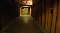 Little girl goes on Wieliczka Salt Mine, Krakow Stock Footage