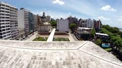 Flag Memorial Rosario Argentina (Monumento Nacional a la Bandera) Stock Footage