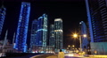 UHD 4K Dubai Marina night time lapse, United Arab Emirates Footage
