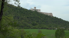 Basilica of Saint Francis of Assisi from below. Stock Footage