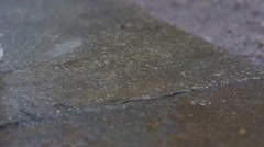 Water Dripping on Concrete - stock footage
