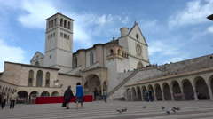 Basilica of Saint Francis of Assisi, Assisi Stock Footage