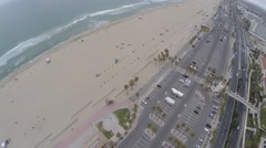 Drone Over Huntington Beach, California Stock Footage