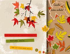 Scrapbooking set about autumn. Stock Illustration