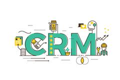 CRM : Customer relationship management - stock illustration