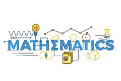 Mathematics word illustration Stock Illustration