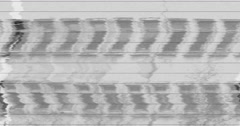 Analog tuning TV signal with noise interferences - bad connection Stock Footage