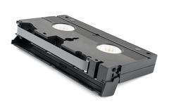 VHS cassette on white background Kuvituskuvat