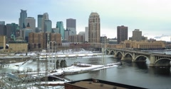 Cold City View Stock Footage