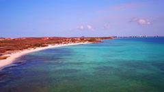 Aerial from Boca Catalina on Aruba island in the Caribbic Stock Footage