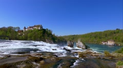 Rhine Falls at Schaffhausen, Switzerland Stock Footage