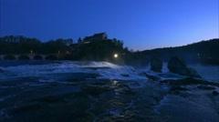 Rhine Falls at Schaffhausen, Switzerland Stock Footage