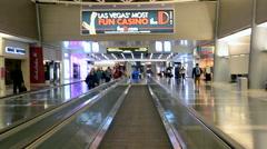 McCarran international airport interior in Las Vegas, USA. Stock Footage