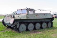 Soviet military vehicle of world war II - stock photo