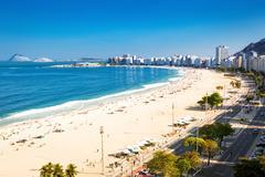 Copacabana beach in Rio de Janeiro - stock photo