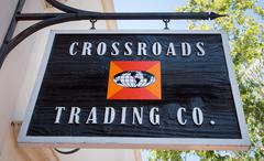 Crossroads Trading Company Exterior and Sign - stock photo