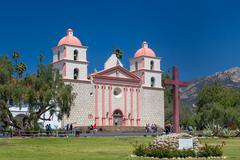 Santa Barbara Mission Exterior Stock Photos